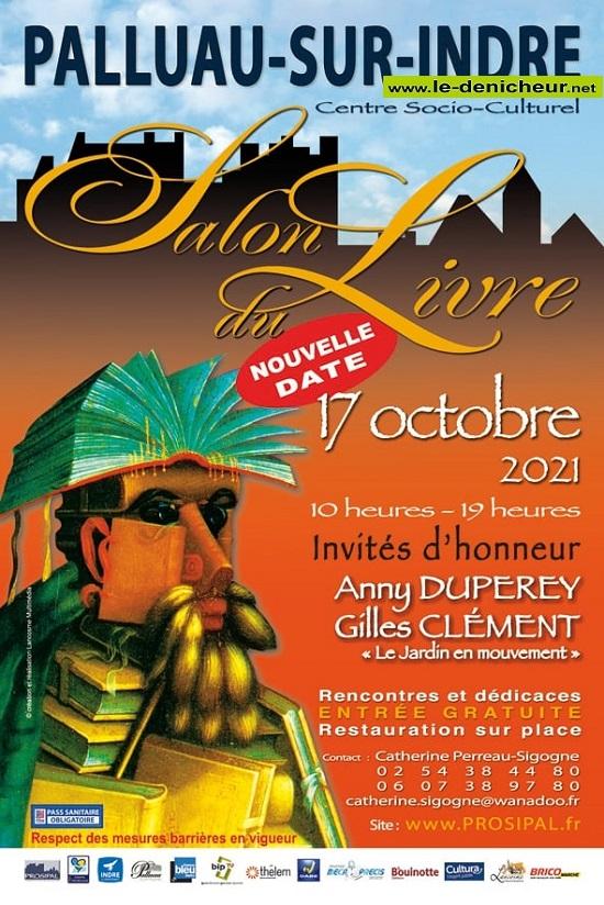 v17 - DIM 17 octobre - PALLUAU /Indre - Salon du livre * 00629