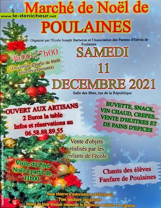 x11 - SAM 11 décembre - POULAINES - Marché de Noël * 00717