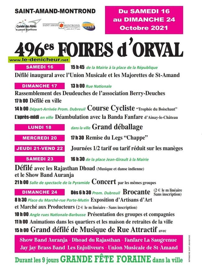 v16 - Du 16 au 24 octobre - ST-AMAND-MONTROND - FOIRES D'ORVAL  00917