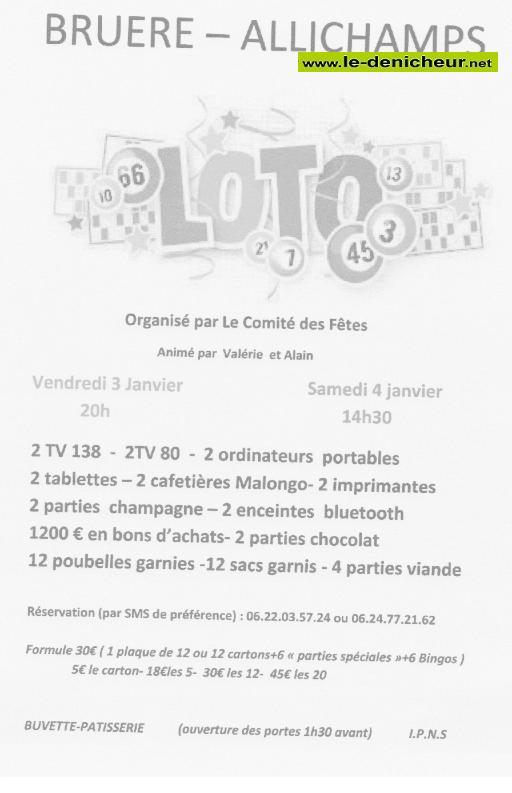 za03 - VEN 03 janvier - BRUERE-ALLICHAMPS - Loto du comité des fêtes */ 01-03_13
