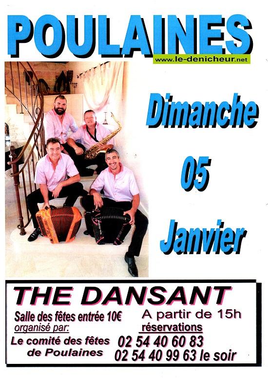 za05 - DIM 05 janvier - POULAINES - Thé dansant .*/ 01-05_20