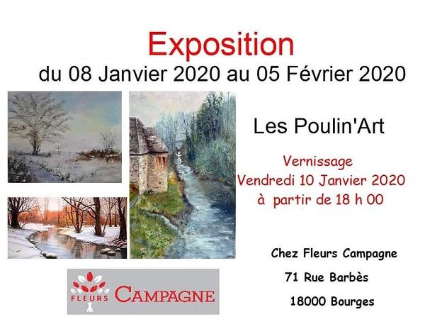 """b05 - Jusqu'au 5 février - BOURGES - Exposition """"Les Poulin'Art"""" 01-0810"""