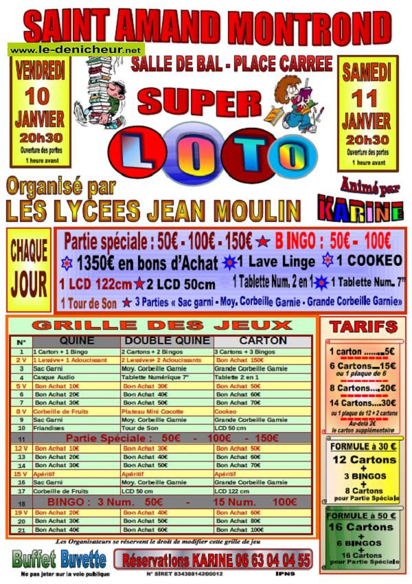 x11 - SAM 11 janvier - ST-AMANDMONTROND - Loto du lycée J. Moulin */ 01-10_10