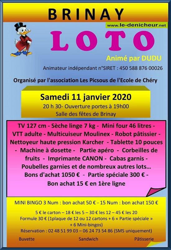 za11 - SAM 11 janvier - BRINAY - Loto des Picsous de Chéry */ 01-11_14
