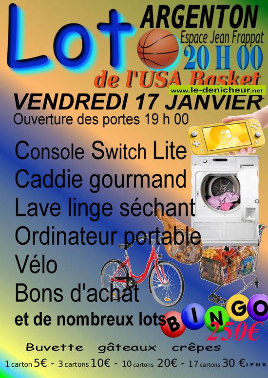 za17 - VEN 17 janvirer - ARGENTON /CREUSE - Loto du basket */ 01-17_11