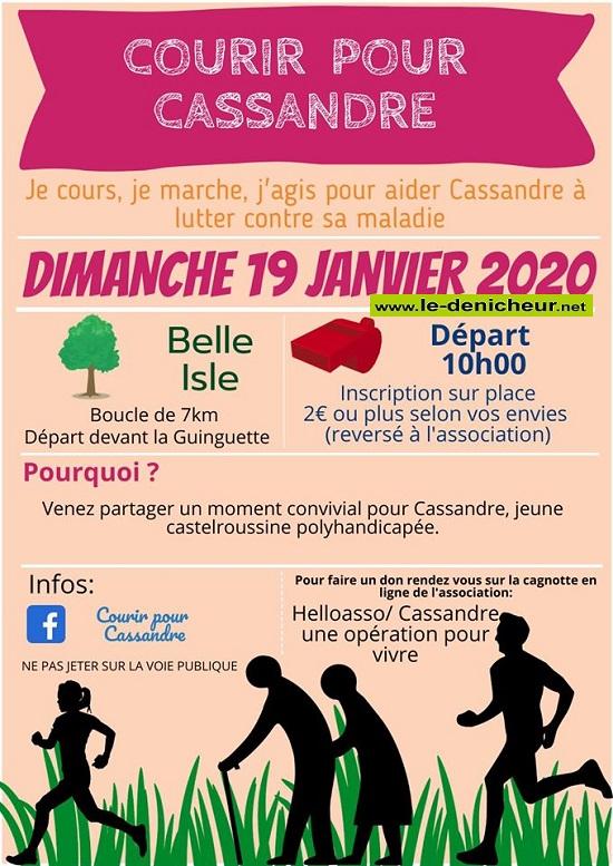 a19 - DIM 19 janvier - CHATEAUROUX - Courir pour Cassandre * 01-1910