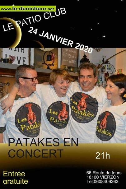 a24 - VEN 24 janvier - VIERZON - Patakès en concert */ 01-24_15