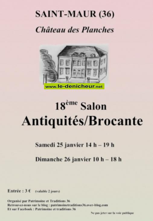 a26 - DIM 26 janvier - ST-MAUR - Salon Antiquités-Brocante / 01-25_10