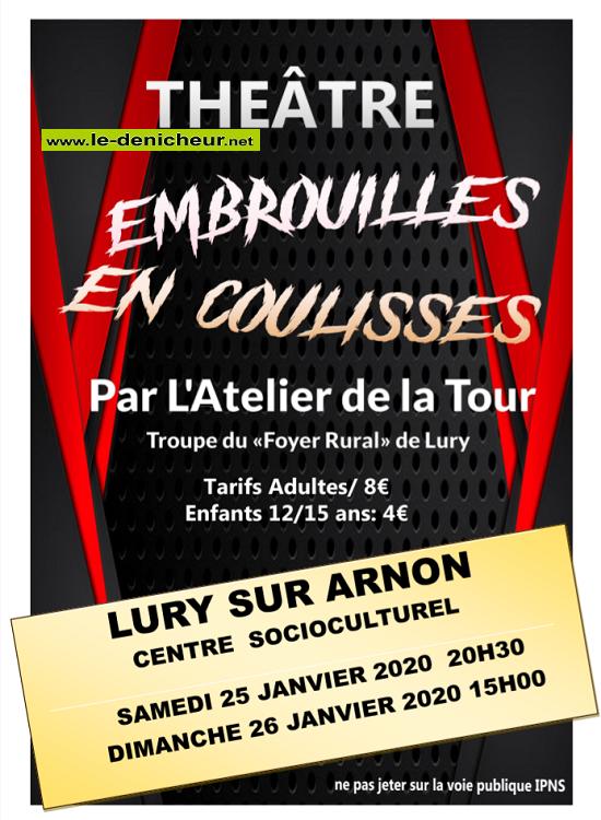 a25 - SAM 25 janvier - LURY /Arnon - Embrouilles en coulisses (théâtre) */ 01-25_13
