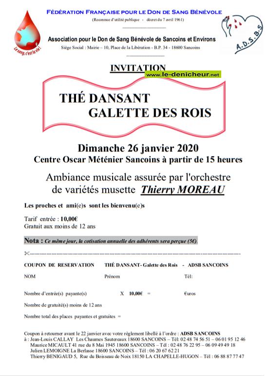 a26 - DIM 26 janvier - SANCOINS - Thé dansant avec Thierry Moreau */ 01-26_18