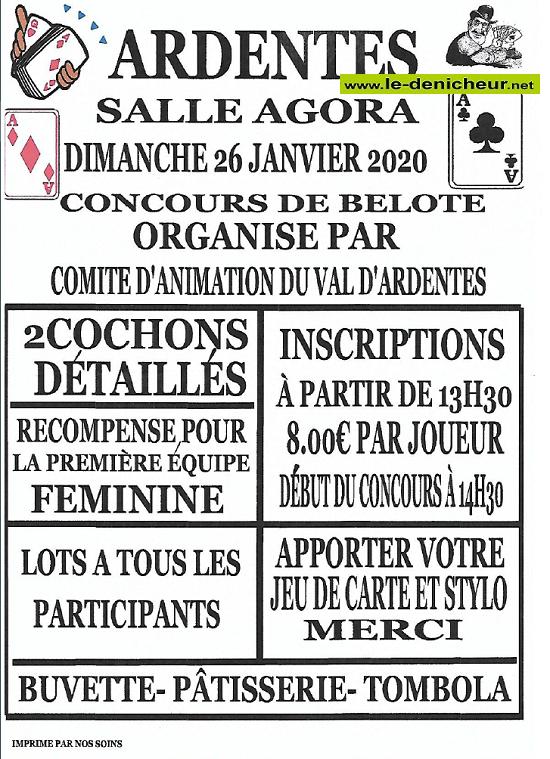 a26 - DIM 26 janvier - ARDENTES - Concours de belote */ 01-26_23