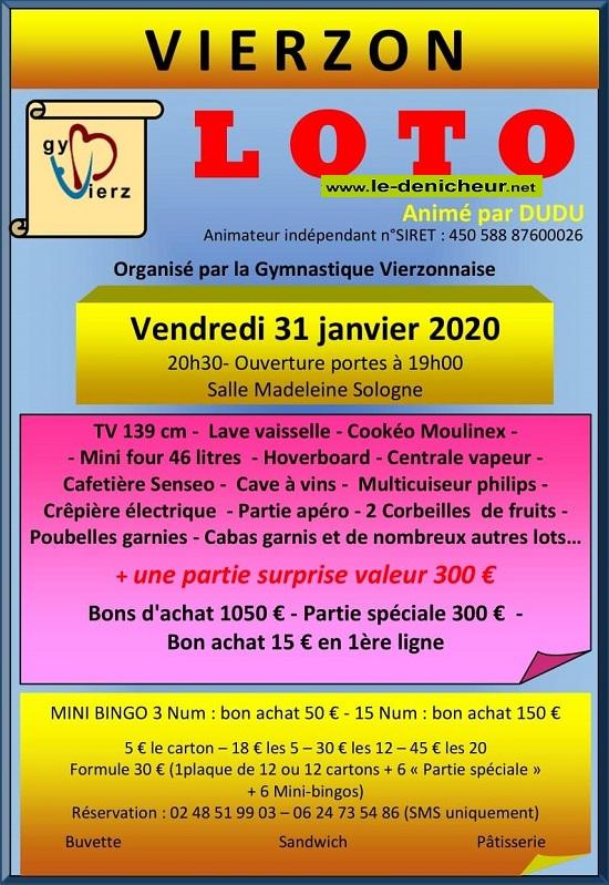 a31 - VEN 31 janvier - VIERZON - Loto de la Gymnastique  */ 01-31_14