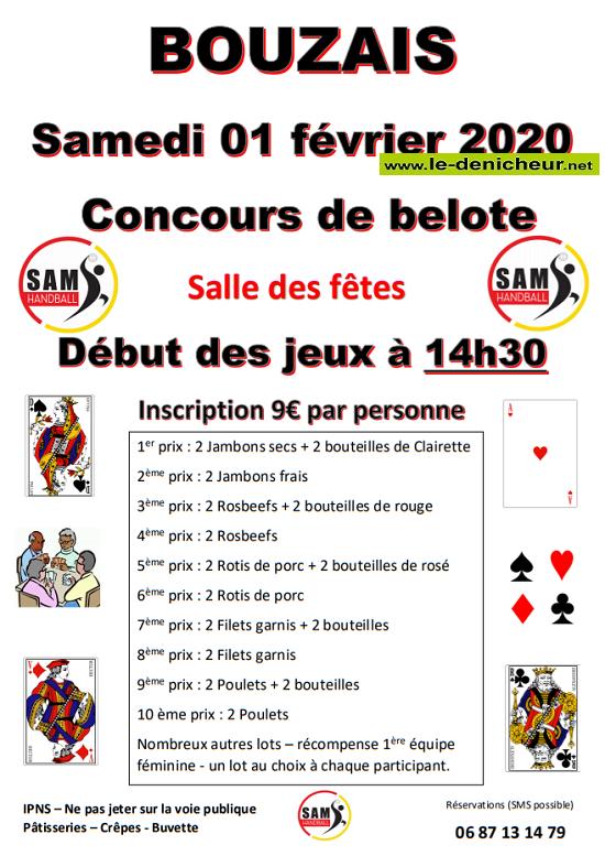 b01 - SAM 01 février - BOUZAIS - Concours de belote */ 02-01_14