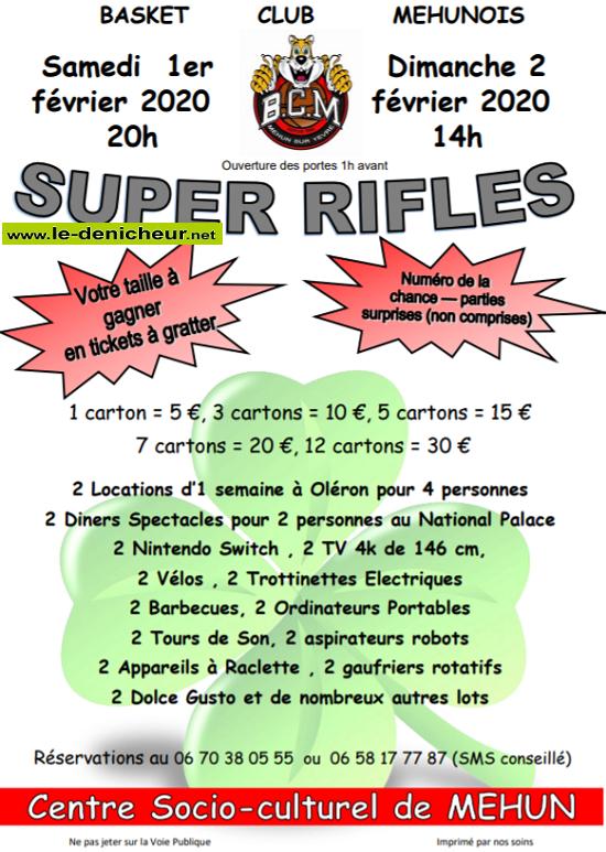 b02 - DIM 02 février - MEHUN /Yèvre - Rifles du Basket */ 02-01_22