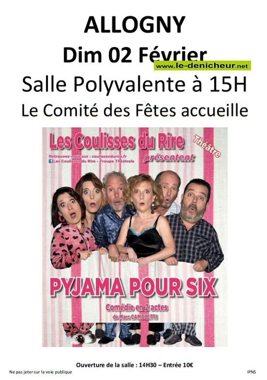 b02 - DIM 02 février - ALLOGNY - Pyjama pour six (théâtre) 02-02-10