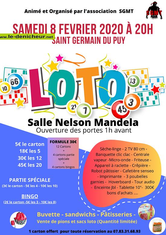 b08 - SAM 08 février - ST-GERMAIN DU PUY - Loto du SGMT */ 02-08_14