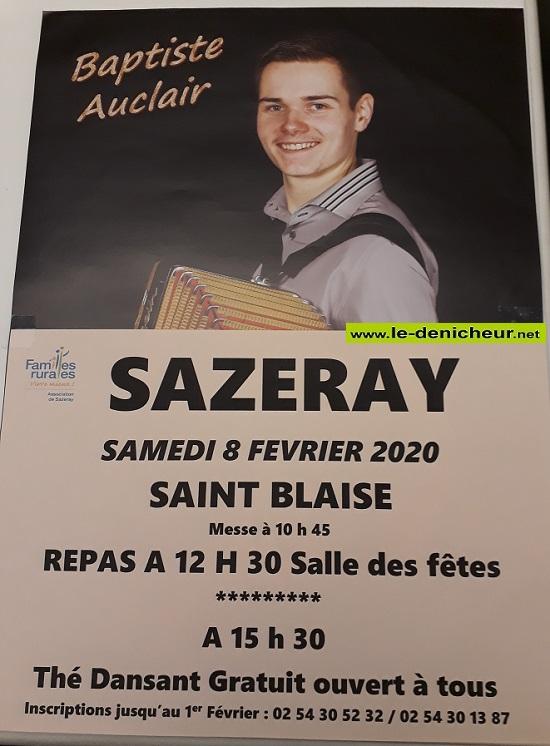 b08 - SAM 08 favrier - SAZERAY - Thé dansant avec Baptiste Auclair */ 02-08_21