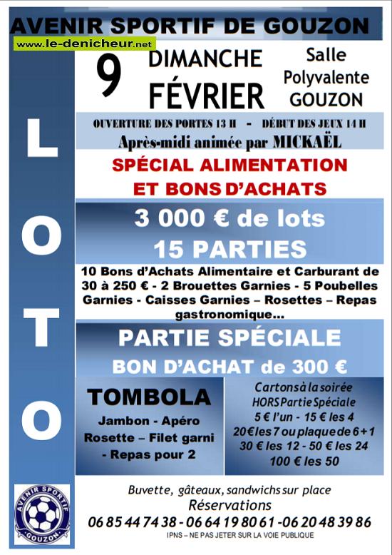 b09 - DIM 09 février - GOUZON (23) - Loto de l'Avenir Sportif */ 02-09_21