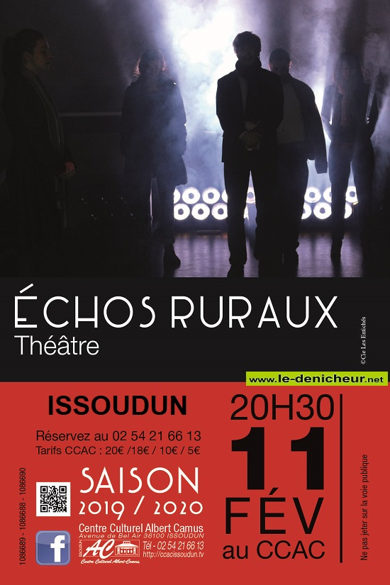 b11 - MAR 11 février - ISSOUDUN - Echos ruraux (théâtre) 02-1110