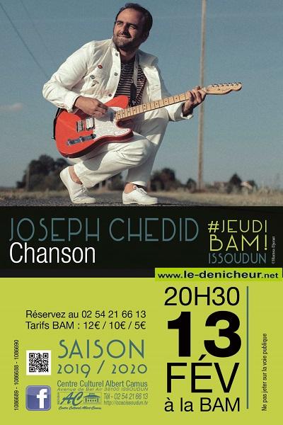 b13 - JEU 13 février - ISSOUDUN - SLAP ! + Joseph Chedid - Pop Chanson */ 02-1311