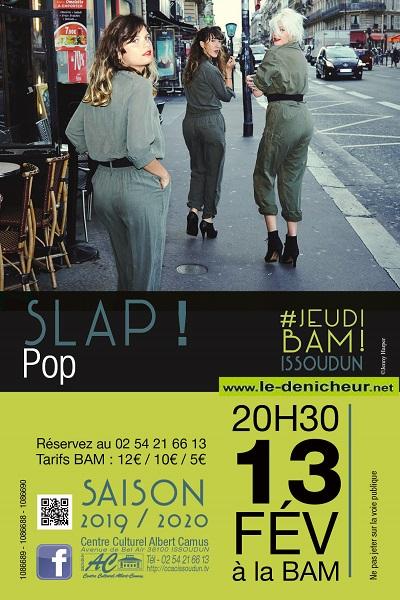 b13 - JEU 13 février - ISSOUDUN - SLAP ! + Joseph Chedid - Pop Chanson */ 02-13_11