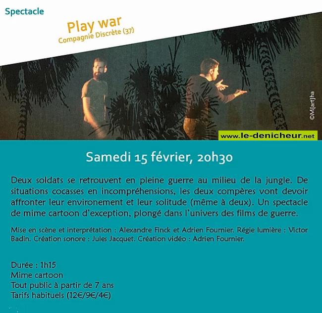 b15 - SAM 15 février - ST-AMAND-MONTROND - Play War (spectacle) 02-1511