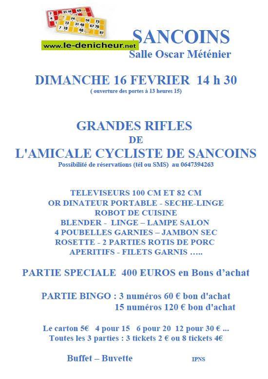 b16 - DIM 16 février - SANCOINS - Rifles de l'Amicale Cycliste */ 02-16_20