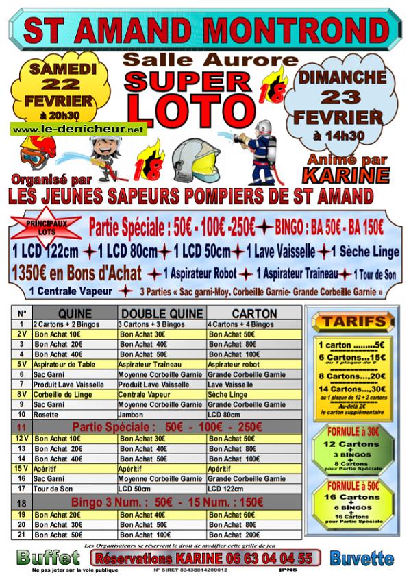 b22 - SAM 22 février - ST-AMAND-MONTROND - Loto des Jeunes Sapeurs Pompiers*/ 02-22_14