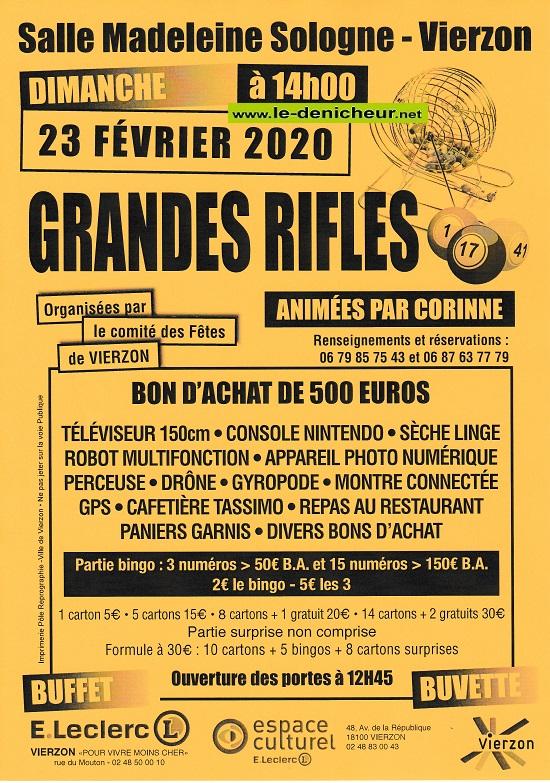 b23 - DIM 23 février - VIERZON - Rifles du comité des fêtes */ 02-2314