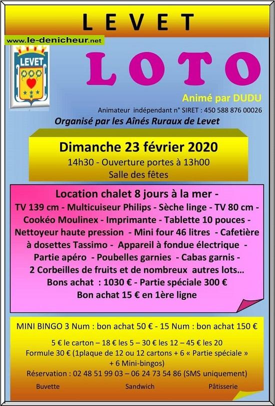 b23 - DIM 23 février - LEVET - Loto des Aînés ruraux */ 02-23_32