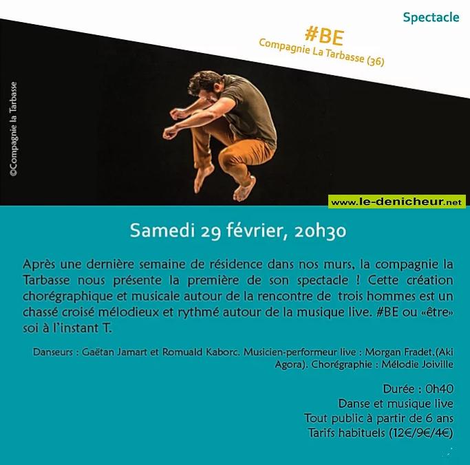 b29 - SAM 29 février - ST-AMAND-MONTROND - #BE (spectacle) 02-2910