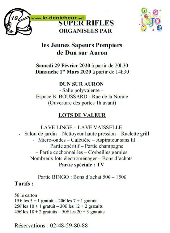 c01 - DIM 01 mars - DUN /Auron - Rifles des Jeunes Sapeurs Pompiers */ 02-2911