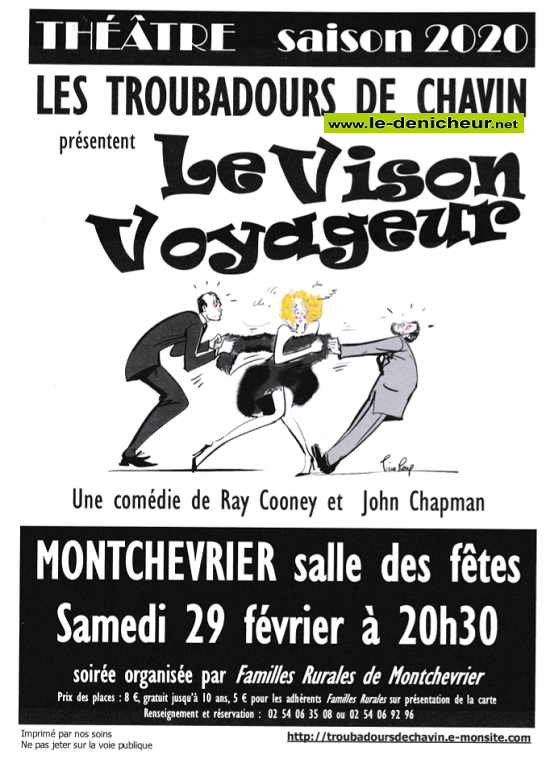 b29 - SAM 29 février - MONTCHEVRIER - Le Vison Voyageur (théâtre) */ 02-29_12