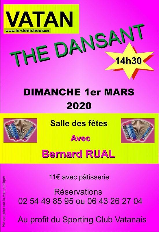 c01 - DIM 01 mars - VATAN - Thé dansant avec Bernard Rual */ 03-0112