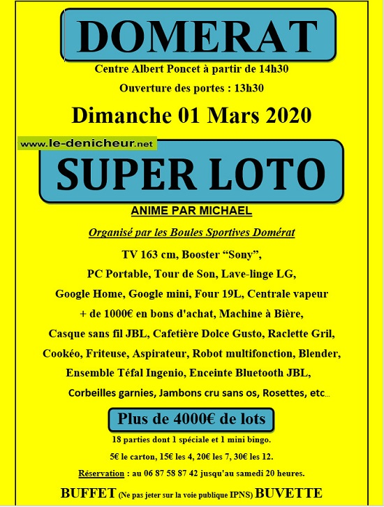 c01 - DIM 01 mars - DOMERAT - Loto des Boules Sportives */ 03-01_18