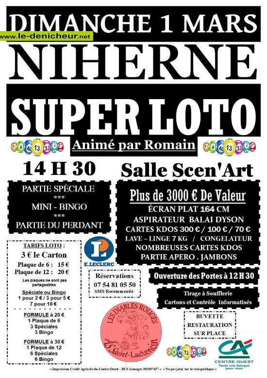 c01 - DIM 01 mars - NIHERNE - Loto du foot de St-Lactencin */ 03-01_20