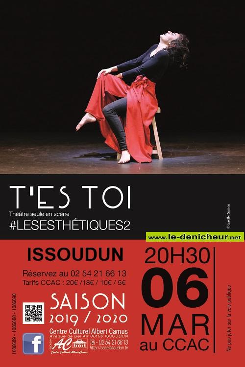 c06 - VEN 06 mars - ISSOUDUN - T'es Toi (théâtre seule en scène) 03-0610