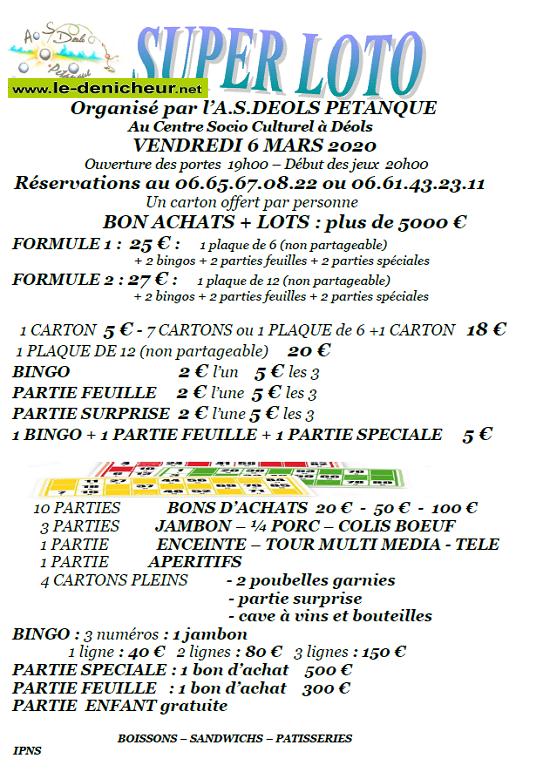 c06 - VEN 06 mars - DEOLS - Loto de la pétanque .*/ 03-06_11