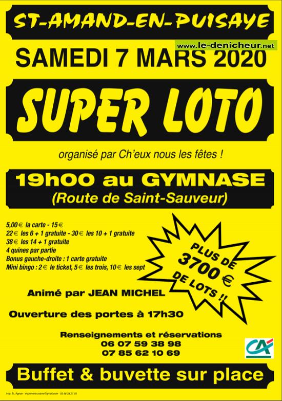c07 - SAM 07 mars - ST-AMAND en PUISAYE - Loto de Ch'eux nous les fêtes */ 03-07_13