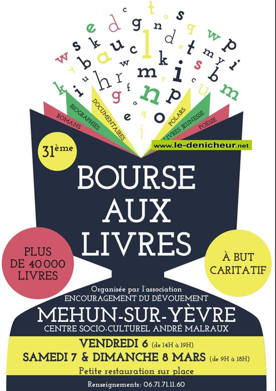 c08 - DIM 08 mars - MEHUN /Yèvre - Bourse aux livres */ 03-07_16