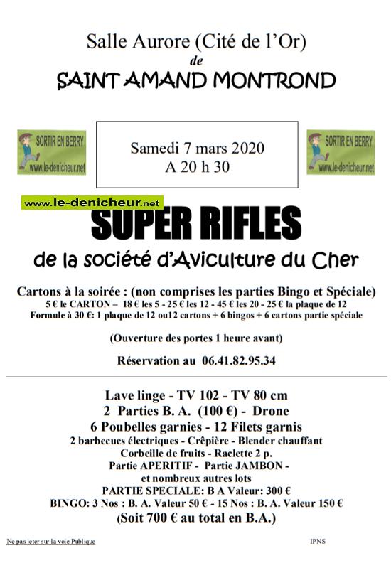 c07 - SAM 07 mars - ST-AMAND-MONTROND - Loto de la Société d'Aviculture du Cher */ 03-07_17