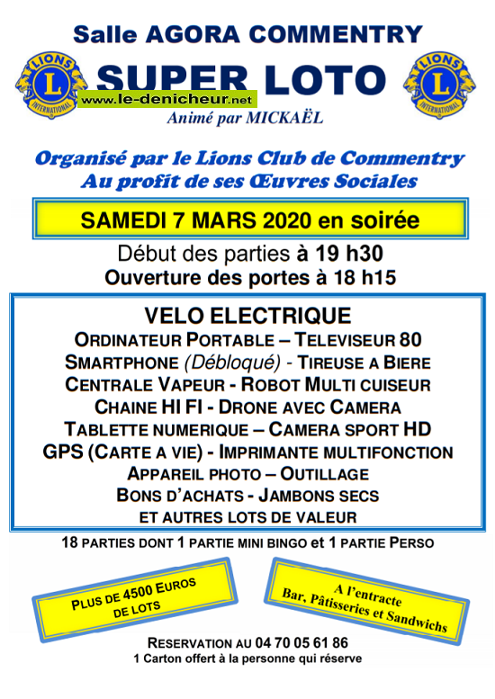 c07 - SAM 07 mars - COMMENTRY - Loto du Lions Club */ 03-07_19