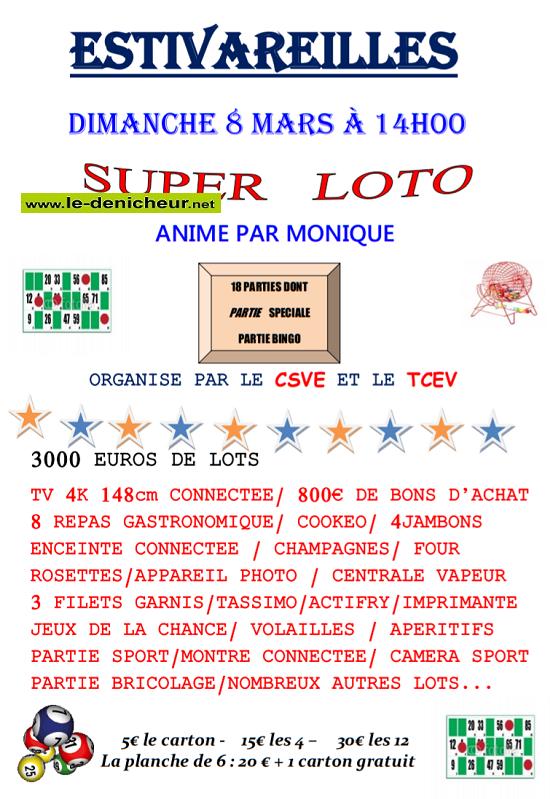 c08 - DIM 08 mars - ESTIVAREILLES - Loto  du CSVE */ 03-08_16