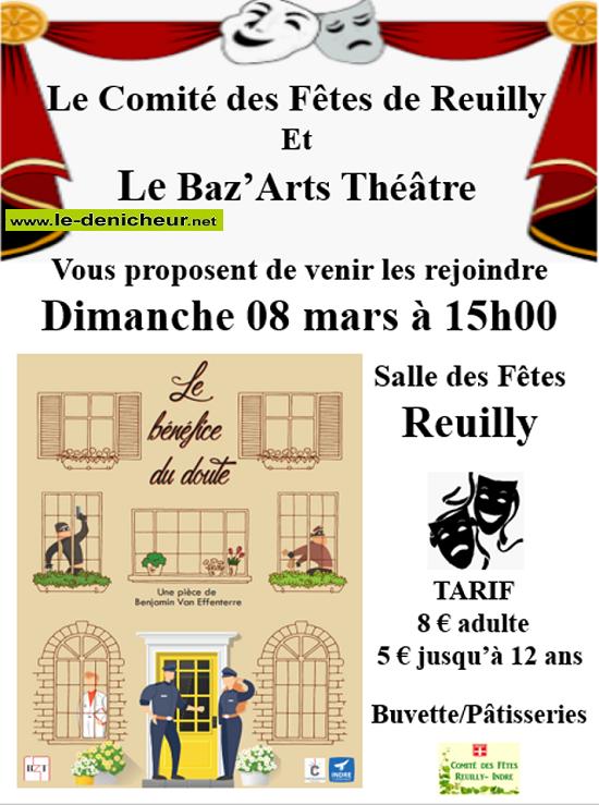 c08 - DIM 08 mars - REUILLY - Le bénéfice du doute (théâtre) */ 03-08_18