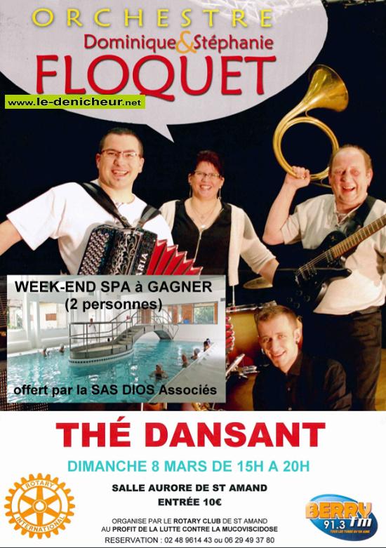 c08 - DIM 08 mars - ST-AMAND-MONTROND - Thé dansant avec D. & S. Floquet */ 03-08_19