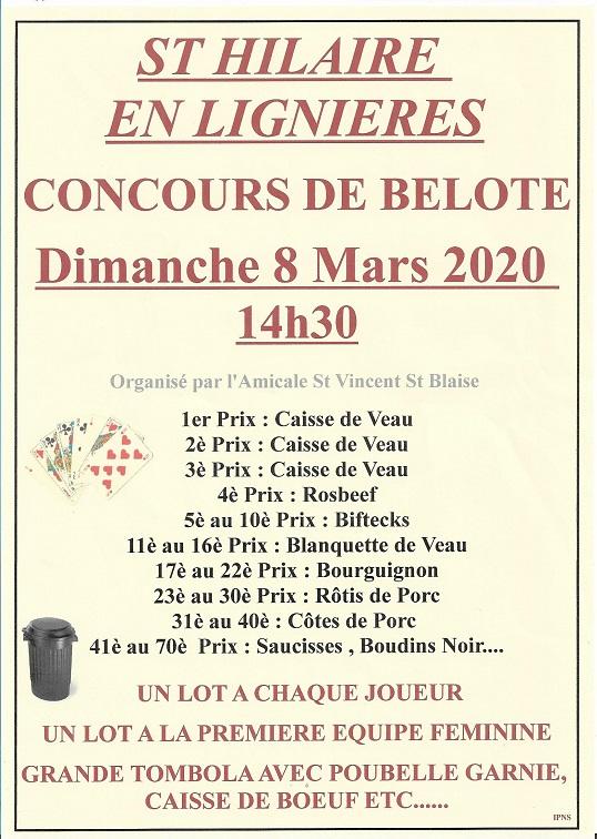 c08 - DIM 08 mars - ST-HILAIRE EN Lignières - Concours de belote */ 03-08_25