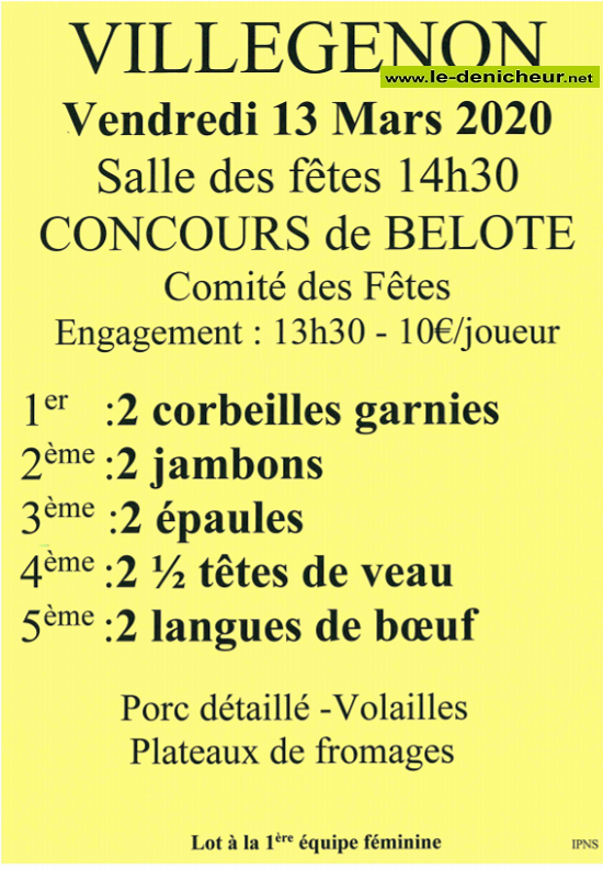 c13 - VEN 13 mars - VILLEGENON - Concours de belote */ 03-13_14