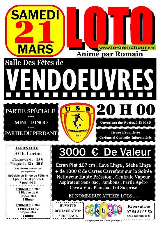 c21 - SAM 21 mars - VENDOEUVRES - Loto du Foot */ 03-21_10