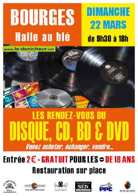 c22 - DIM 22 mars - BOURGES - Les Rendez-Vous du Disque, CD, BD et DVD * 03-22_20