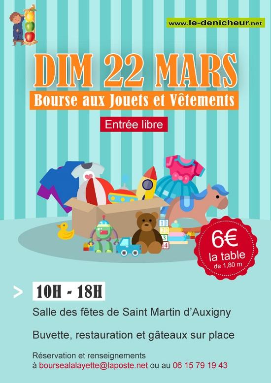 c22 - DIM 22 mars - ST-MARTIN D'AUXIGNY - Bourse aux jouets et vêtements */ 03-22_21